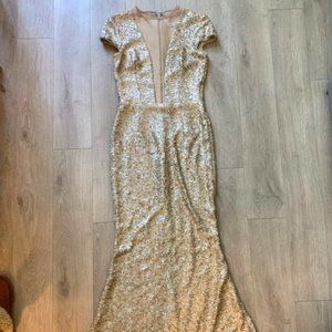 Dress The Population Michelle Sequin Gown Size Med